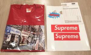 即決 即納 Supreme シュプリーム 18 SS Hardware Tee red tシャツ 赤 サイズ M 国内正規 オンライン 購入 新品未使用