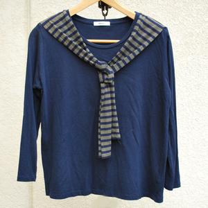 【美品】ニコアンドniko and ボーダーシャツを羽織ってるようなカットソー