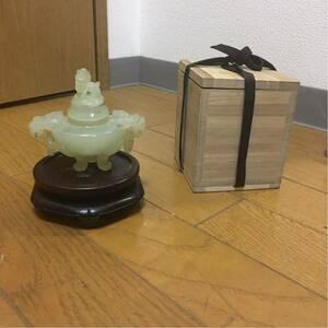 中国美術 香炉 古玩 三足 和田 白玉 香道具