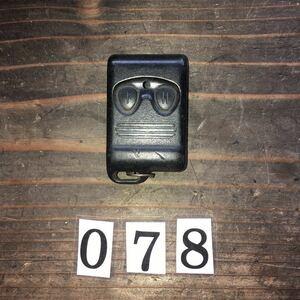 078 トランスミッターリモート キーレスリモート コントロール キーレスエントリー