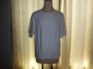 LOWRYS FARM ローリーズファーム USAロールUPTショートスリーブ 半袖Tシャツ アイボリー色 Lサイズ 定価2700円