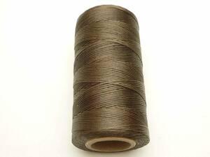 蝋引き糸 ワックスコード 茶  ブラウン 太さ1mm 長さ260m ロウ引き 手芸 レザークラフト用紐 マクラメ編み 手芸材料