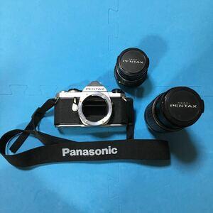 PENTAX ASAHI 一眼レフ カメラ MUE レンズ 2本付き SMC PENTAX-M zoom 1:4 75~150mm Panasonic Nikon Canon ニコン 当時物 1976年