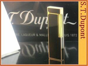 【 レア ピンクゴールド ブラック 卓上テーブル ガスライター 】S.T.Dupont ライン2ベース 特大ロング◆デュポン葉巻!たばこ喫煙具グッズ
