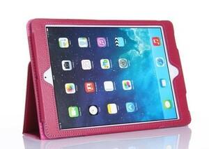 iPad Air / iPad 5 スタンド/ スリープ レザケース ピンク