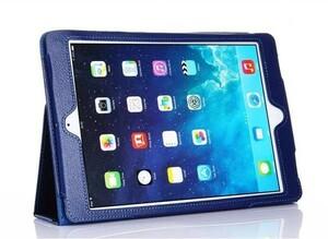 iPad Air / iPad 5 スタンド/スリープレザケース ダークブルー