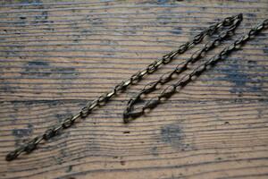 NO.9860 古い真鍮のチェーン 幅4mm 長さ500mm 検索用語→A50gアンティークビンテージ古道具金物扉洋館鎖ドアチェーン