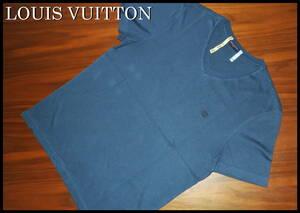 LOUIS VUITTON ロゴ Tシャツ 国内正規品 ルイヴィトン Vネック 半袖 メンズ S モノグラム LV ダミエ ネクタイ スニーカー 紺 青 バッグ
