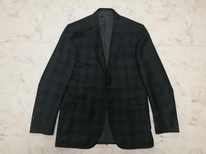 新品ブリオーニ チェックジャケット ブレザー サイズ48 テーラードジャケット