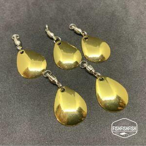 【新品】コロラドブレード ゴールドスピンテール Lサイズ 5個セット