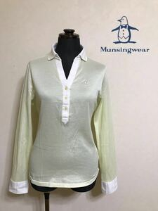 Munsingwear golf マンシングウェア ゴルフレディース シャツ トップス サイズM 長袖 デサント 日本製 SL1050