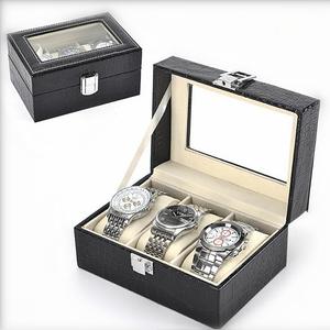 おしゃれに収納♪時計 収納 3グリッド ケース 旅行 ジュエリー 収納ボックス 腕時計 アクセサリー ディスプレイ ab104