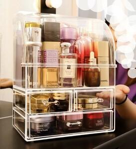 【セット】大型 防塵 香水 ボトル メイクアップ 収納 ボックス プラスチック 化粧品 オーガナイザー ホルダー 透明 化粧箱 M372