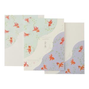 【即決】◇便箋&封筒セット◇フロンティア / 金魚柄 / 夏レター / PD-547
