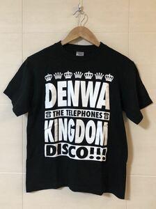 THE TELEPHONES★DENWA KINGDOM 黒Tシャツ★ザテレフォンズ★バンドTシャツ