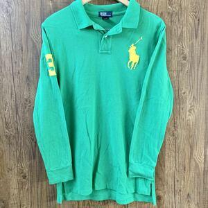 POLO RALPH LAUREN ポロ ラルフローレン 長袖ポロシャツ ビッグポニー 緑 L(16-18)