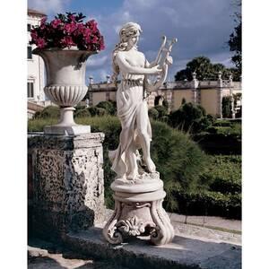 ハープを弾く女神 インテリア置物屋外対応西洋彫刻エクステリア洋風オブジェアウトドア庭園ガーデン飾り屋外装飾品優雅エレガント女神像