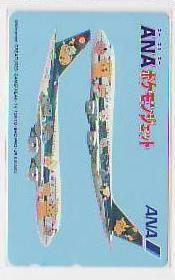 5-q044 航空機 ANA ポケモンジェット テレカ