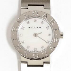 BVLGARI ブルガリ ブルガリ BB23SS ホワイトシェル ダイヤ12P レディース クォーツ