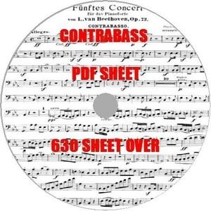 コントラバスPDF大量楽譜集630譜弦楽器ウッドベース演奏にGR素材練習初心者激レアプロ演奏者指揮者運指音楽曲作曲パート譜スコアタブレット
