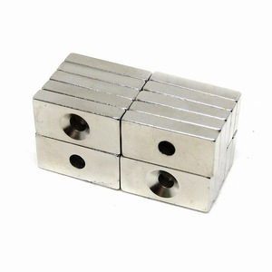 «А18-А2» сильный магнит неодимовый 20 × 10 × 4 мм 20 шт / неодима квадратный квадратной пластины отверстие резьбовое отверстие магнита