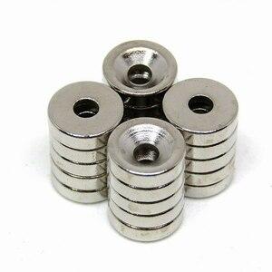 «A2F-А2» сильный магнит неодимовый 10 × 3 мм 20 частей / неодима круглая пластина отверстие резьбовое отверстие Резюме Магнит покупки