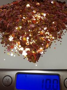 【N2】ネイルアート レジン ラメ グリッター ホロ ゴールド×レッド×ピンク #01 10g