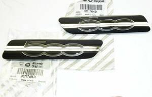 送料無料 Fiat 500 Logo Sign Emblem フィアット サイン エンブレム バッジ セット 71749625 71749624