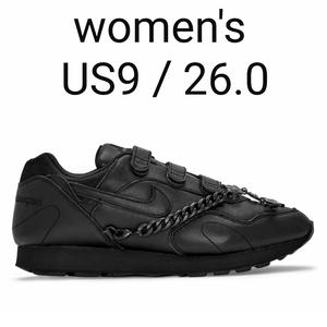women's US9.0 26.0 Comme des Garcons × NIKE outburst black コムデギャルソン ナイキ アウトバースト ブラック Jordan 1 dunk CDG 25.5