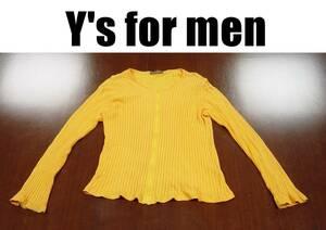 Y's for men ワイズフォーメンカーディガン/ヨウジヤマモト 長袖カットソー/イエロー