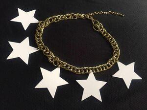 ☆ TOPSHOP スター チェーン チョーカー ゴールド 金 白 スター 星 メタル ネックレス トップショップ コスプレ ダンス ショー 衣装