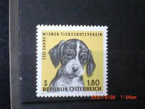 ウイーン慈善協会120年ー子犬 1種完 未使用 1966年 オーストリア共和国 VF/NH