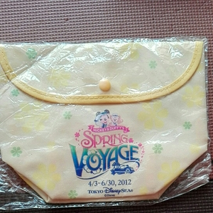 キリン オリジナル スプリングボヤッジ 2012 TDS 東京ディズニーシー ランチバッグ 黄色 SPRING VOYAGE 非売品 未使用