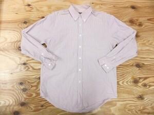 Calvin Klein カルバンクライン メンズ 綿 コットン100% チェック ボタンダウンシャツ 赤 サイズM/40