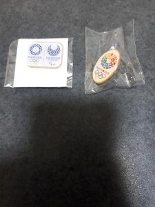 2020年 東京オリンピック ピンバッジ 2種セット 各1個 未使用 ピンバッチ ピンズ 2020 オリンピック