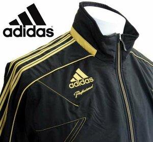 新品 アディダス プロフェッショナル adidas Professional クロスジャージトップス Sサイズ ジャケット ジャージ 黒金 ロゴ トレーニング
