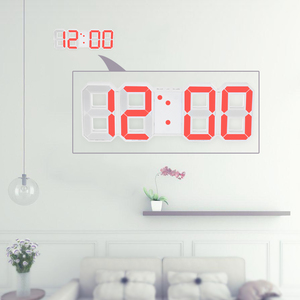 (^^)/大きくて見やすい!!大型デジタル時計 置型 壁掛け LED表示 アラームあり インテリア おしゃれ 【赤】 it291