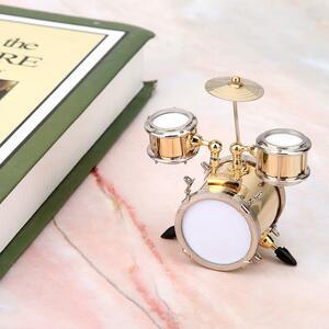 (o^^o)♪ミニチュア ドラム 楽器 ドラマー ドールハウス レプリカ 置物 インテリア it367