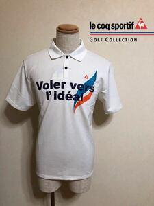 【新品】 le coq sportif GOLF COLLECTION ルコック ゴルフ コレクション ドライポロシャツ 吸汗速乾 ホワイト サイズL 半袖 QG2549 白