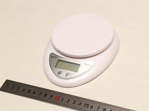 最大5kgまで測れるポータブルデジタルはかり最小1g