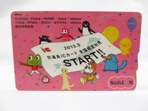 新品 即決台紙あり 福岡★全国相互利用記念 SUGOCA ICカード 台紙つき
