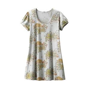 【新品】数量1 フランシュリッペ 赤ずきん ユニクロ ロング Tシャツ 半袖 グレー チュニック franche lippee Lサイズ UT カットソー コラボ