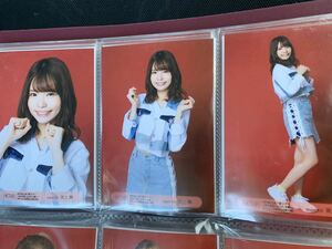 HKT48 九州7県ツアー 10/22佐賀 会場限定 生写真 渕上舞 3種コンプ