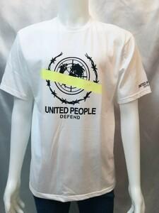 1円!メンズクルーネックTシャツ トップス tシャツ 丸首Tシャツ プリントTシャツ 白 L 00181