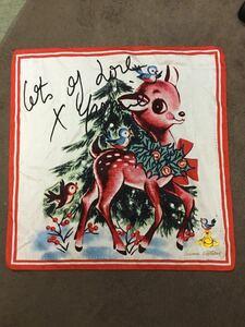 Vivienne Westwood ヴィヴィアンウエストウッド バンビ柄 オーブ付き スカーフ ハンカチ