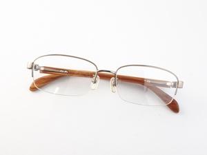 新品《デッドストック》 森彩 モリノイロ M002T-BR 55口17-145 ブラウン チタン 度付きレンズ無料 メガネ 眼鏡フレーム