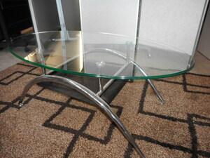 ガラス天板 センターテーブル ローテーブル 中古品