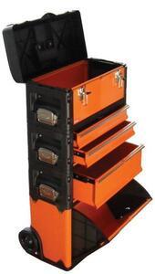 送料無料★trad 合体式ツールチェスト TRD-TC5/工具箱(5段)★4つに分割,単品でも持運び可 キャスター付き H890×W510×D300mm 耐荷重13kg