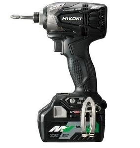 新品■HiKOKI(旧日立工機) 充電インパクトドライバ WH18DDL2(2LXPK)(B)ブラック マルチボルト(BSL36A18)×2個+急速充電器+ケース