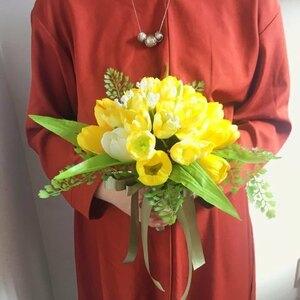 ◆リーズナブルウエディングブーケ◆チューリップ【B】◆トスブーケブライダル結婚式◆造花・アーティフィシャルフラワー